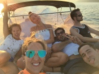 charter a boat with your friends