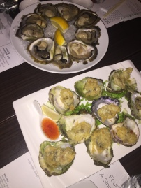 oysters and tempura oysters
