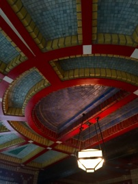 color ceiling in the tea room